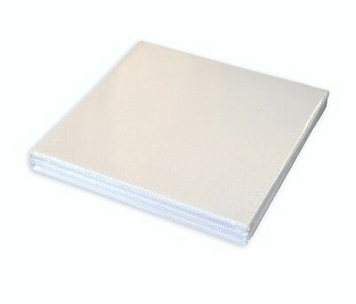 Pebeo White Synthetic Cotton Square Canvas Artist Board 10 x 10 cm Set Pack of 3