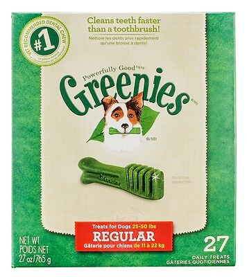 Greenies [New] Daily Dental Chews for Regular Dogs (27 count)