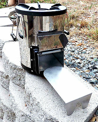 Silverfire Rocket Survivor Wood Burning Stove Outdoor Biomass Camping Cooker NEW