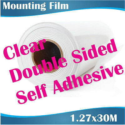 Clear Double Sided Self Adhesive Mounting Film 1.27x30M