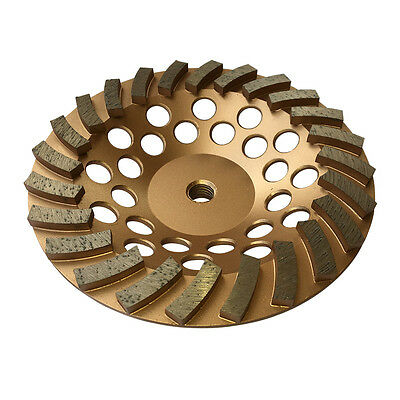 "3PK 7""x24Seg Spiral Diamond Grinding Cup Wheels for Concrete stone 5/8""-11 Arbor"