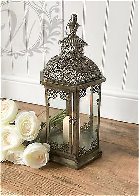 New Small Vintage Lantern Holder Candle Style Garden Antique French Moroccan