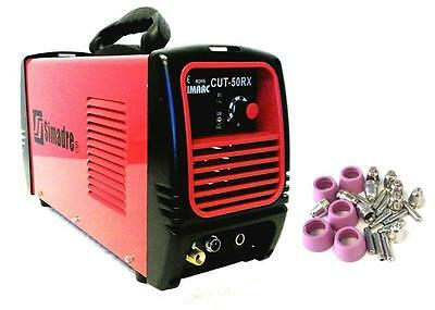 Simadre Plasma Cutter 50Rx Portable 50 Amp 110/220V + 25 Consumables