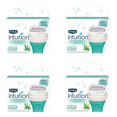 Schick Intuition Naturals Sensitive Care Women Razor Blade Refill, 12 Cartridges