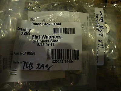 Stainless Steel Flat Washer Series 812 SAE, 5/16 ID x .687 OD, Qty 600  #804-A