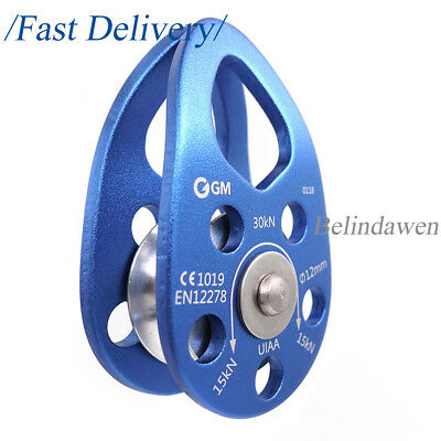 NEW 30kN Swing Cheek Micro Pulley Ball Bearing for Hauling Tree Climbing Rescue