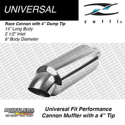 """Zetti Cannon 2 1/2 Inlet 6"""" Round 14"""" Long 4"""" Dump Tip"""