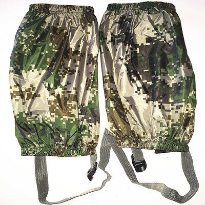 Military/Army Camo Waterproof Walking/Hiking Gaiters Camouflage Boot Covers New