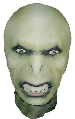 Voldemort Style Halloween Full Head Mask - Lycra Stretchy Morph Style Costume
