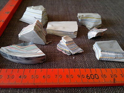 Fordite Detroit agate 75 grams lapidary rough raw metalic chips