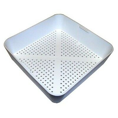 "8 1/2"" Square Floor Drain Strainer Basket - 1/8"" Holes SAME DAY SHIPPING"