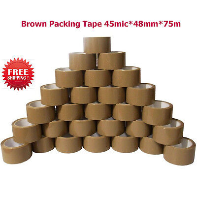 TAPE Rolls Of Brown STRONG Parcel Tape Packing  Packaging  45mic*48mm*75