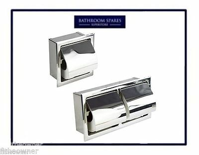 Single /double Concealed Bathroom Toilet Roll Holder Stainless Steel Recessed