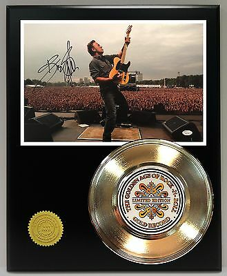 Bruce Springsteen Gold 45 Record Signature Series Ltd Edition Free U.s Shipping