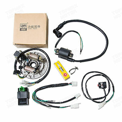 50 110 125Cc Wire Harness Cdi Coil Electrics Stator Magneto Plug Pit Dirt Bikes