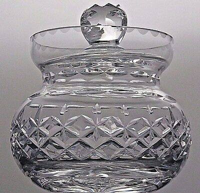 Thomas Webb Crystal Cut Glass Pickle Jar/pot With Lid - Signed