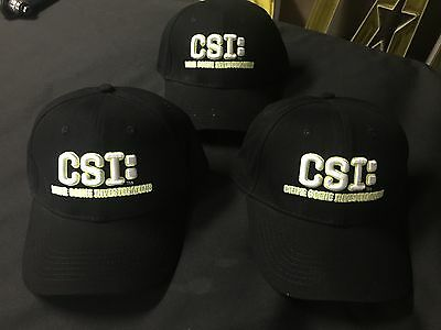 Csi Crime Scene Investigation Igt  Ny Tv Police Show Hat Cap Adjustable One Sz