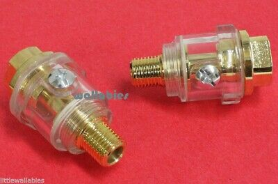 Lot of 2 IN-LINE OILER Oil Lubricator For Impact Wrench Gun Air Tool