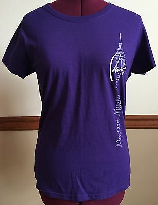 Women's Paris Casino Hotel Las Vegas Purple T-Shirt Size M