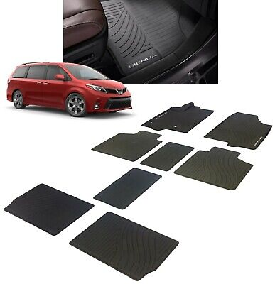 2013-2018 Sienna Floor Mats All Weather Liners 8PC Genuine Toyota PT908-08170-02