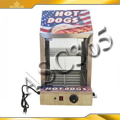 Stainless Steel Commercial Can Hot Dog Bread Sauage Warmer Box Food Show