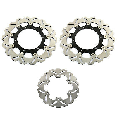 Front Rear Brake Discs Rotors Disks forYZF R1 02 03 R6 1999 2000 2001 2002 New