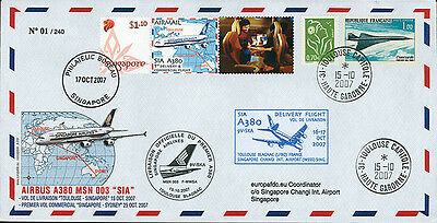 """FFC FRANCE-SINGAPORE """"A380 SIA - Delivery Flight Toulouse-Singapore"""" (T3) 2007"""