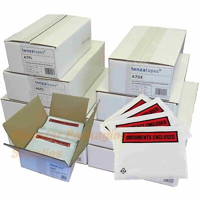 Documents Enclosed Envelopes Wallets Plain Printed A7 A6 A5 DL Tenzalopes Brand