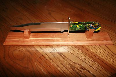 "18"" Solid Cherry Bowie Knife Display Stand"