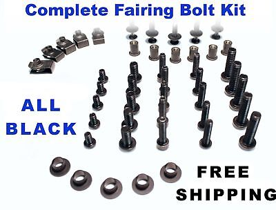 Complete Black Fairing Bolt Kit body screws for Ducati 848 2008 - 2009 ; 1098
