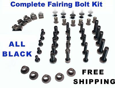Complete Black Fairing Bolt Kit body screws for Ducati 848 EVO 2010 - 2011 ;1198
