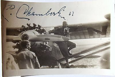 Clarence Chamberlin Aviation Pioneer Record Pilot 1920's & 30's Signed Photo