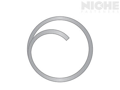 Circle Cotter .062 x 1 Stainless Steel Plain  (100 Pieces)