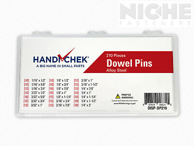 Dowel Pin Assortment Alloy Steel 210 Piece