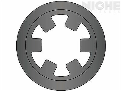Push-On External Reinforced Retaining Ring 1/4 Steel Phos (500 Pieces)