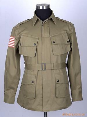 Collectable WWII US Military Army M42 Airborne Jumpsuit Jacket&Trousers