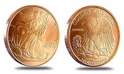 Lot of 20 Walking Liberty American Eagle Coins .999 Copper Bullion 1 oz each