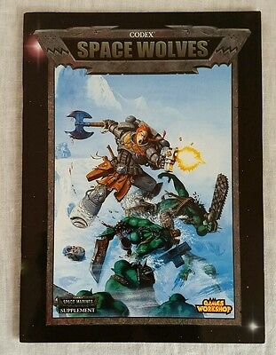 Warhammer 40K Codex Space Wolves OOP Games Workshop (2000, paperback) 3rd ed.