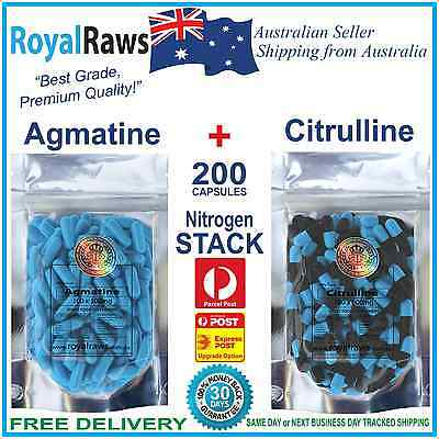 Agmatine Citrulline capsules nitrogen stack muscular pump no2 endurance recovery
