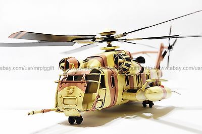 Handmade 1965 Marines Sikorsky S-61R Helicopter 1:24 Antique Style Metal Model