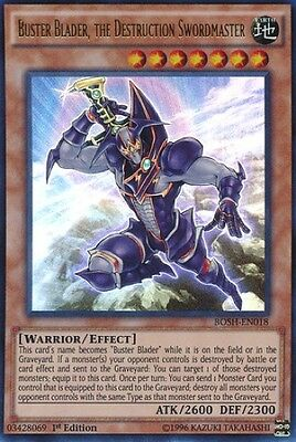 Buster Blader, the Destruction Swordmaster (BOSH-EN018) - Ultra Rare - 1st Ed.
