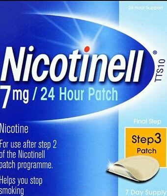 Nicotinell TTS x 7 Stop Smoking Patches 7 mg Step 3,Effectively Reduces Cravings