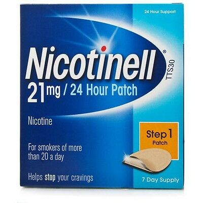 Nicotinell TTS 30 Stop Smoking Patch 21mg Step 1 x7 Effectively Reduces Cravings