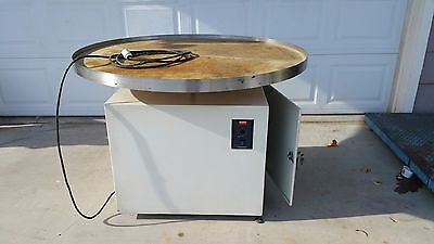 "Used 47-1/2"" Rotary Turn Table With Dayton Dc Speed Control"