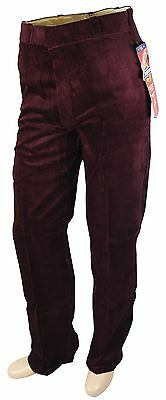 NEW VTG 80s DICKIES Corduroy Work PANTS 31 x 34 Maroon Deadstock NOS Made In USA