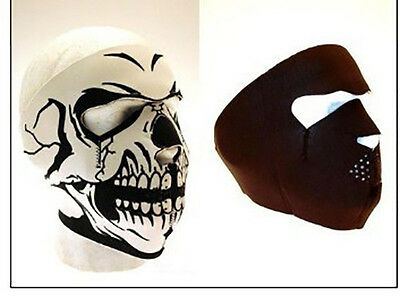 Outdoor Cycling Motobike Windproof Face Mask Shield Cool Ghost Skull Skeleton