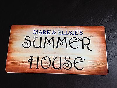 Personalised Summer House Sign Plaque Indoor or Outdoor