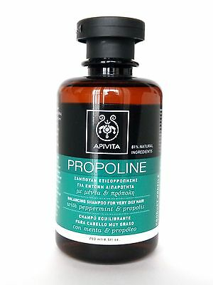 APIVITA Propoline Balancing Shampoo for very OILY HAIR with peppermint 250ml