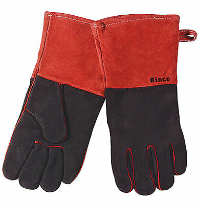 Kinco Heat Resistant Gloves Fireplace Woodstove Barbecue Heatflector Lining