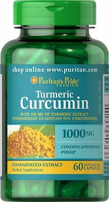 Turmeric Curcumin 1000 mg with Bioperine 5 mg x 60 Capsules - 24HR DISPATCH
